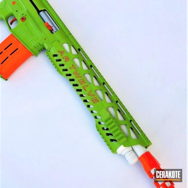 Cerakoted: Bright White H-140,Shotgun,AR Twelve,Zombie Green H-168,Hunter Orange H-128