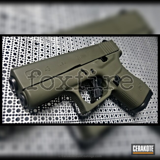 Cerakoted: Solid Tone,Pistol,Glock,MAGPUL® O.D. GREEN H-232,Glock 43