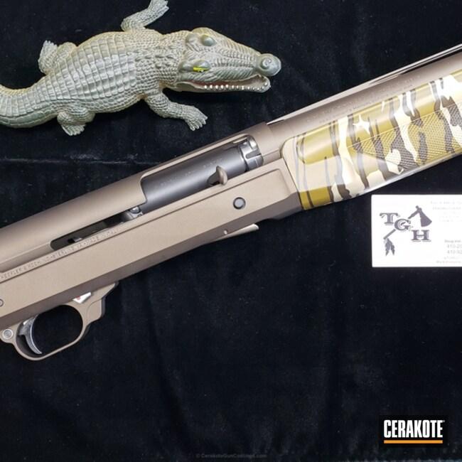 Cerakoted: Shotgun,Benelli Super Black Eagle,Graphite Black H-146,Benelli,Midnight Bronze H-294