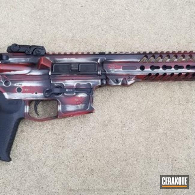 Cerakoted: Hidden White H-242,Punisher,Custom Rifle,Battleworn Flag,Graphite Black H-146,9mm Carbine,Crimson H-221,American Flag,Warrior Arms,KEL-TEC® NAVY BLUE H-127