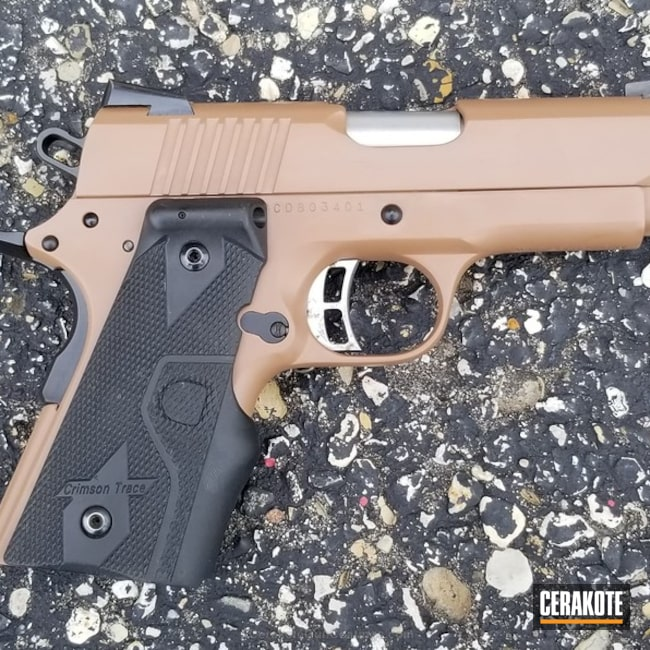 Cerakoted: Solid Tone,Pistol,1911,Charles Daly,Crimson Trace,Copper Brown H-149