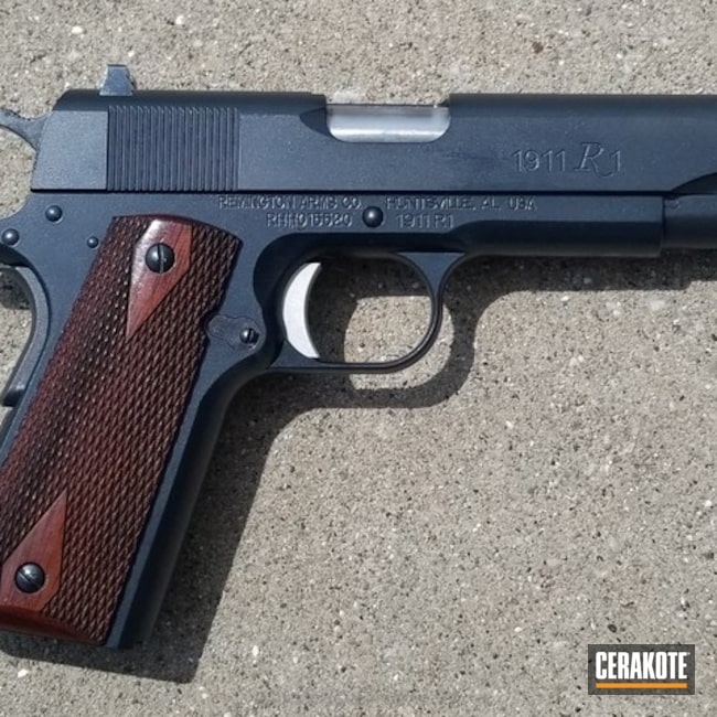 Cerakoted: Midnight E-110,Remington 1911 R1,Pistol,1911,Remington