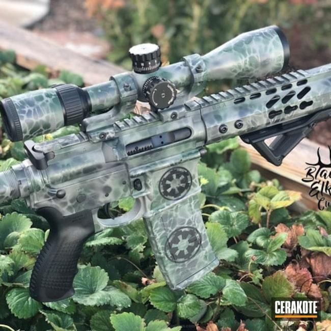 Cerakoted: Highland Green H-200,Desert Sage H-247,Graphite Black H-146,Galactic Empire,Camo,Tactical Rifle,Custom Camo,AR-15,Optics