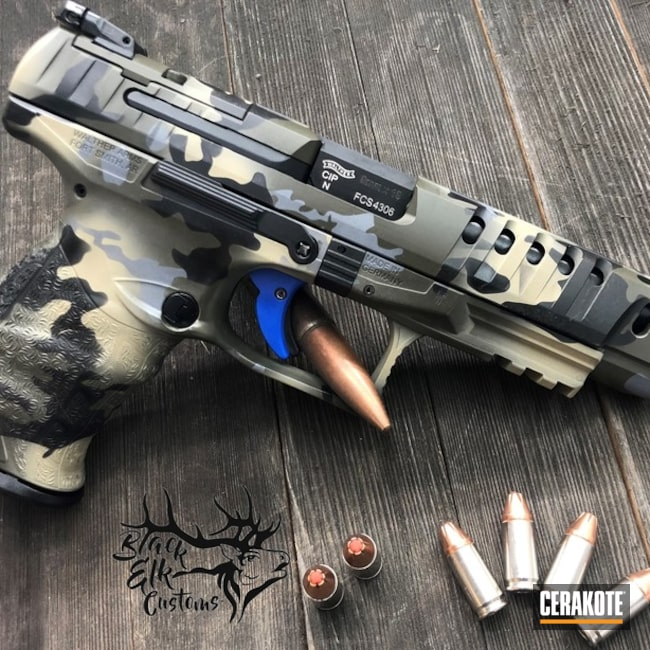 Cerakoted: Walther,MultiCam,Walther Q5 Match,Graphite Black H-146,Walther PPQ,Pistol,BENELLI® SAND H-143,EDC
