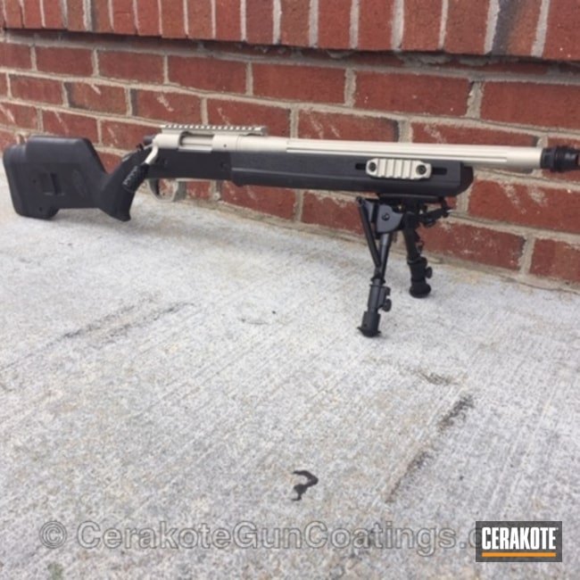 Cerakoted: Bolt Action Rifle,Graphite Black H-146,Two Tone,Bright Nickel H-157