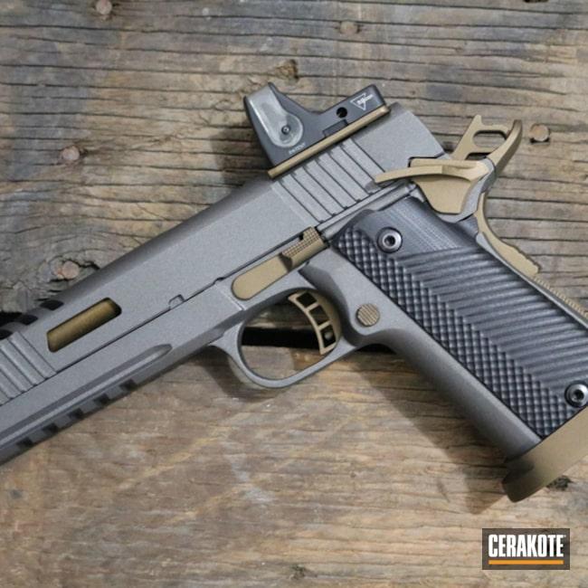 Cerakoted: Two Tone,Burnt Bronze H-148,Titanium H-170,Pistol,1911