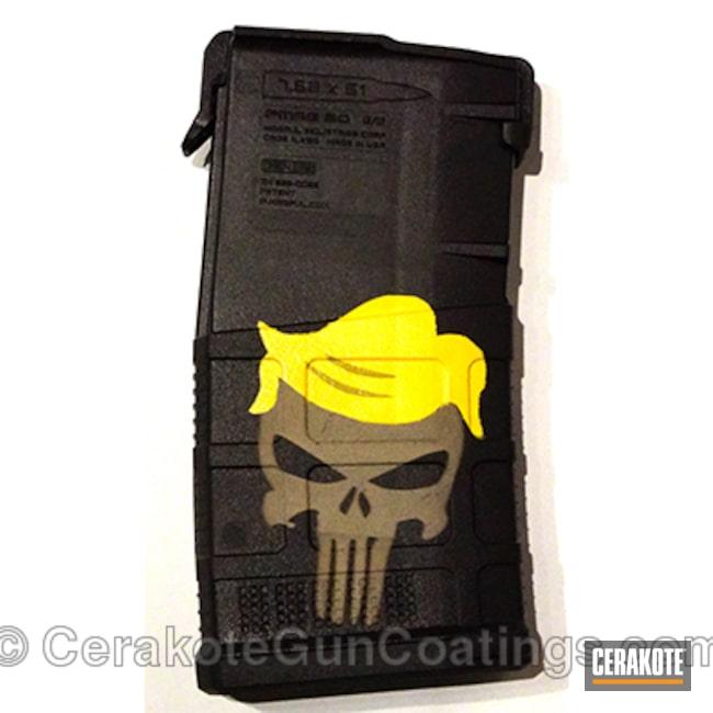 Cerakoted: Punisher,Electric Yellow H-166,MAGPUL® FLAT DARK EARTH H-267,Magazine