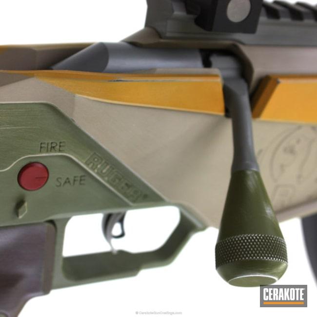 Cerakoted: Bolt Action Rifle,Ruger,MCMILLAN® TAN H-203,Ruger RPR,Noveske Bazooka Green H-189,22lr,DEWALT YELLOW H-126,Chocolate Brown H-258,Star Wars