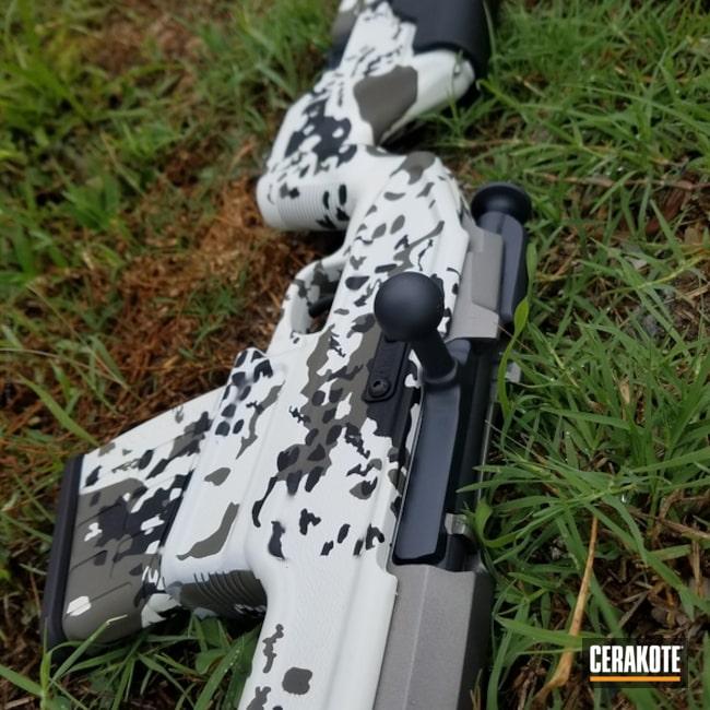 Cerakoted: Bolt Action Rifle,Graphite Black H-146,Stormtrooper White H-297,Custom Camo,Danish Camo,MAGPUL® FOLIAGE GREEN H-231