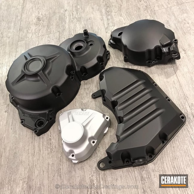 Cerakoted: Graphite Black H-146,Motorcycles,Yamaha,Satin Aluminum H-151,More Than Guns