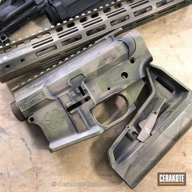 Cerakoted: MAGPUL® FLAT DARK EARTH H-267,Graphite Black H-146,Tactical Rifle,Gun Parts,Noveske,Noveske Bazooka Green H-189