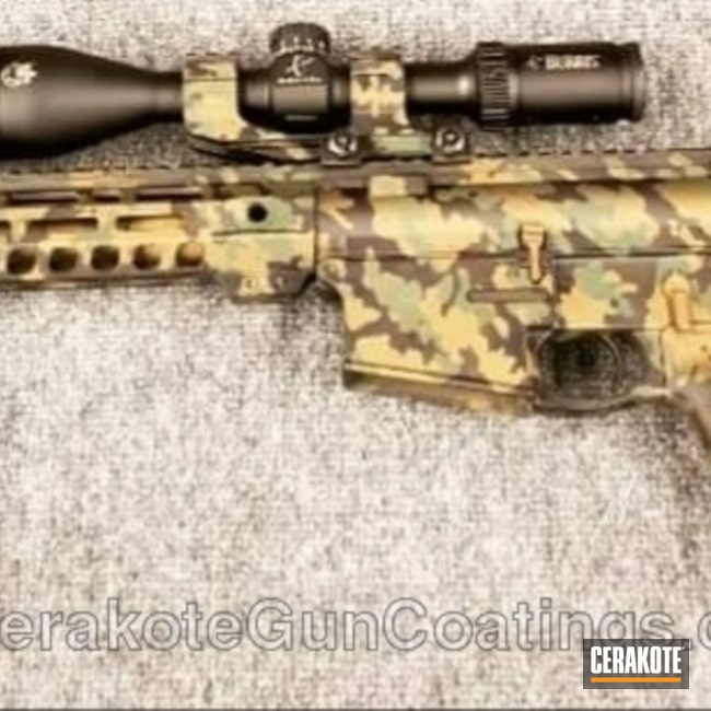 Custom MultiCam AR-15 Rifle Finish