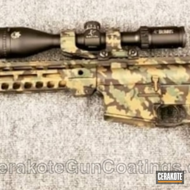 Cerakoted: MultiCam,Camo,Burris,Armor Black H-190,Tactical Rifle,Jesse James Eastern Front Green H-400,Custom Camo,Gold H-122,AR-15