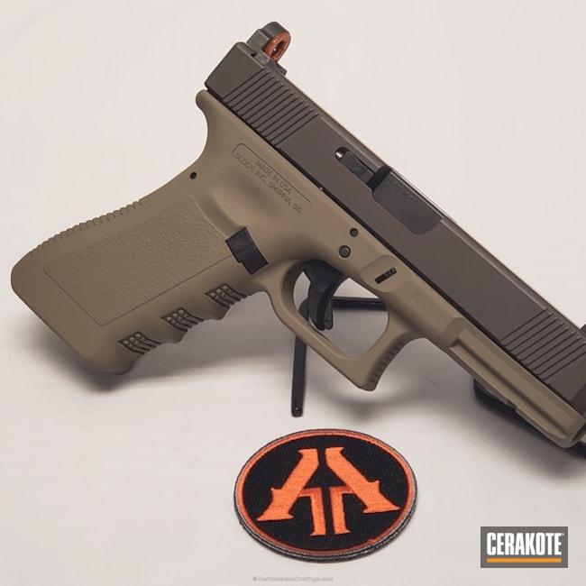 Cerakoted: MAGPUL® FLAT DARK EARTH H-267,Two Tone,Burnt Bronze H-148,Pistol,Glock,Glock 17