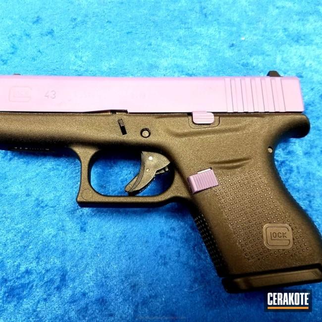Cerakoted: Bright Purple H-217,Pistol,Glock,Gun Parts,Slide,Glock 43