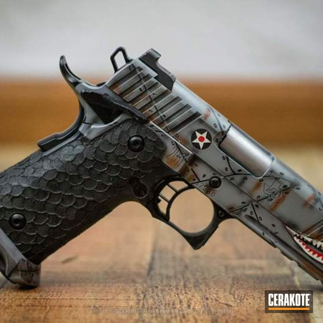 STI 1911 Handgun in a Custom Fighter Plane Themed Graphic