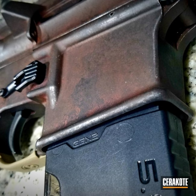 Cerakoted: AR Pistol,Armor Black H-190,Tactical Rifle,Chocolate Brown H-258