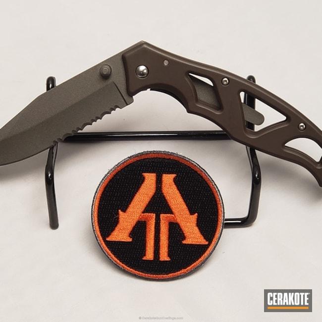Cerakoted: VORTEX® BRONZE H-293,Gerber,Folding Knife,Gun Metal Grey H-219,More Than Guns,EDC,VORTEX® BRONZE C-293