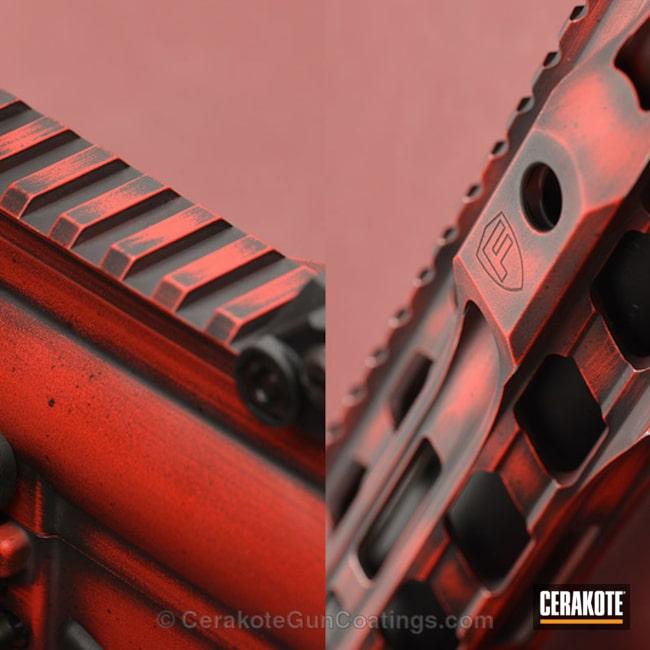 Cerakoted: Distressed,USMC Red H-167,Armor Black H-190,Tactical Rifle,Star Wars
