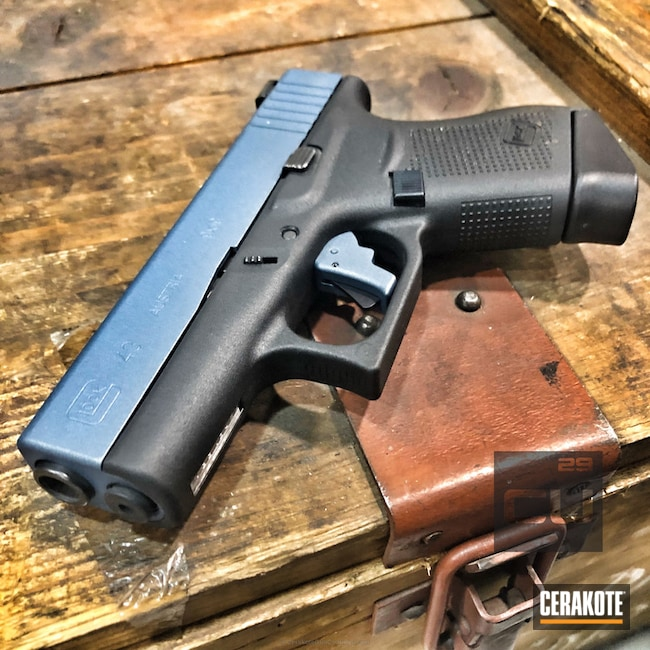 Cerakoted: Pistol,Glock,Slide,Blue Titanium H-185,Glock 43