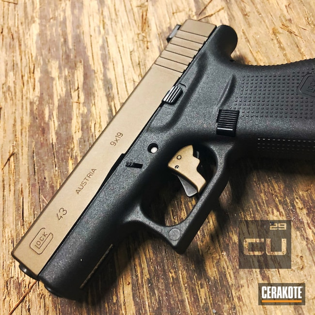 Cerakoted: Burnt Bronze H-148,Pistol,Glock,Slide,Glock 43