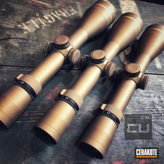 Cerakoted: Leupold Scope,Burnt Bronze H-148,Scope Rings,Leupold
