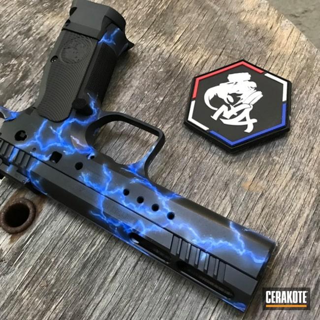 Cerakoted: Cerakote France,Graphite Black H-146,Lightning,Pistol,Sky Blue H-169
