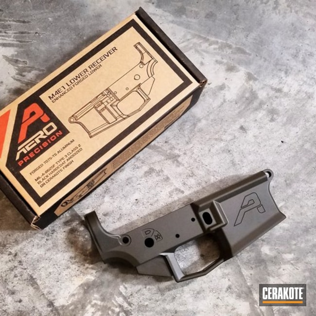 Aero Precision Lower coated in H-232 MagPul O.D. Green
