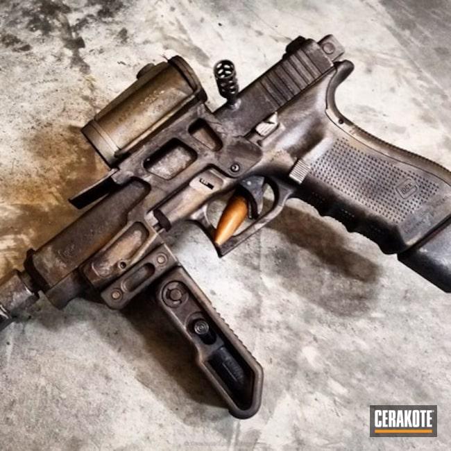 Cerakoted: Machine Pistol,Tactical,Distressed,Pistol,Armor Black H-190,Machine Gun,SIG™ DARK GREY H-210,Midnight Bronze H-294,Custom Pistol,Steampunk,9mm,Battleworn,Graphite Black H-146,Rex Silentium,Burnt Bronze H-148,Satin Aluminum H-151,Glock,Diesel Punk