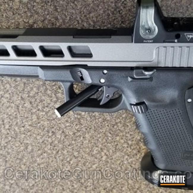 Cerakoted: Custom Milling,RMR Cut,Glock 34,Tungsten H-237,Pistol,Glock,Warrior Arms
