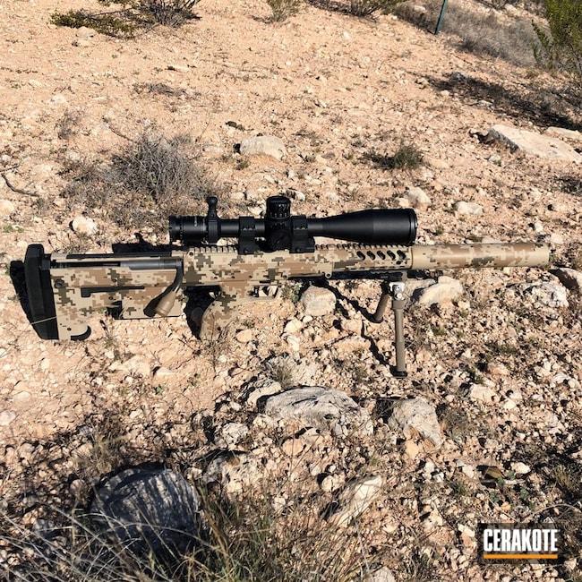 Cerakoted: Bolt Action Rifle,Mud Brown H-225,Digital Camo,Desert Sand H-199,Patriot Brown H-226