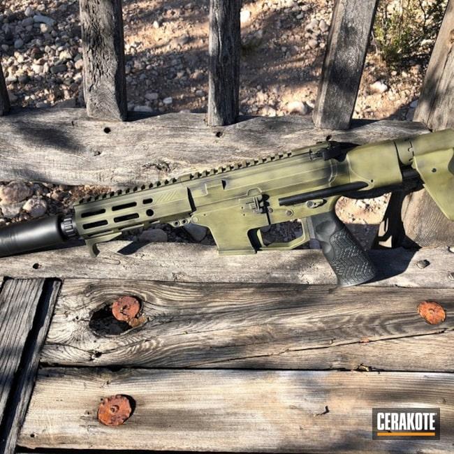 Cerakoted: Angstadt Arms,Battleworn,Graphite Black H-146,Tactical Rifle,SBR,Noveske Bazooka Green H-189