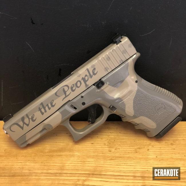 Cerakoted: Glock 19,Pistol,Glock,SIG™ DARK GREY H-210,Flat Dark Earth H-265