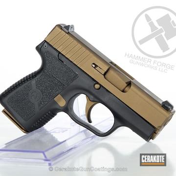 Cerakoted Kahr Arms Handgun In Burnt Bronze