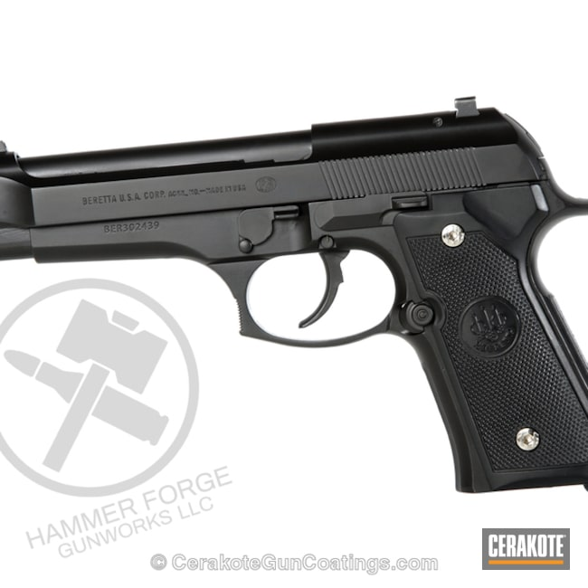 Cerakoted: 9mm,Graphite Black H-146,Pistol,Beretta,Handguns
