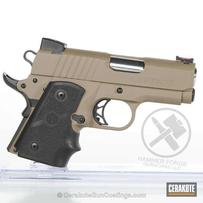 Cerakoted: MAGPUL® FLAT DARK EARTH H-267,.45 ACP,Graphite Black H-146,Pistol,1911,Handguns,Para-Ordnance,Warthog