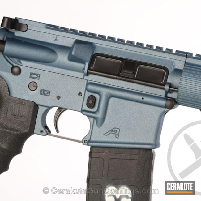Cerakoted: Aero Precision,Graphite Black H-146,Two Tone,Tactical Rifle,.22LR,22lr,Blue Titanium H-185,AR-15