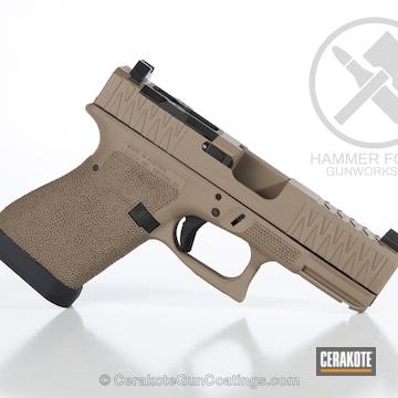 Cerakoted Custom Glock 19 Finished In H-267 Magpul Flat Dark Earth