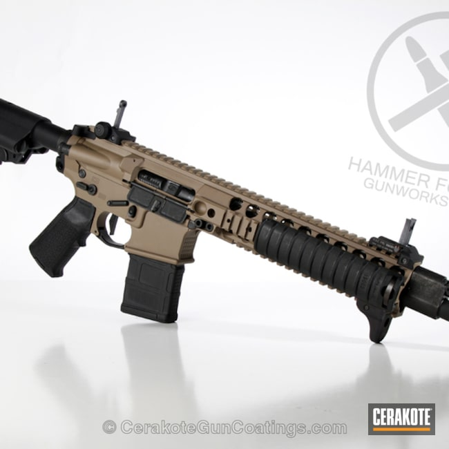 Cerakoted: KAC,MAGPUL® FLAT DARK EARTH H-267,Custom SBR,Lewis Machine & Tool Company,Tactical Rifle,SBR,AR-15,Sun Devil MFG
