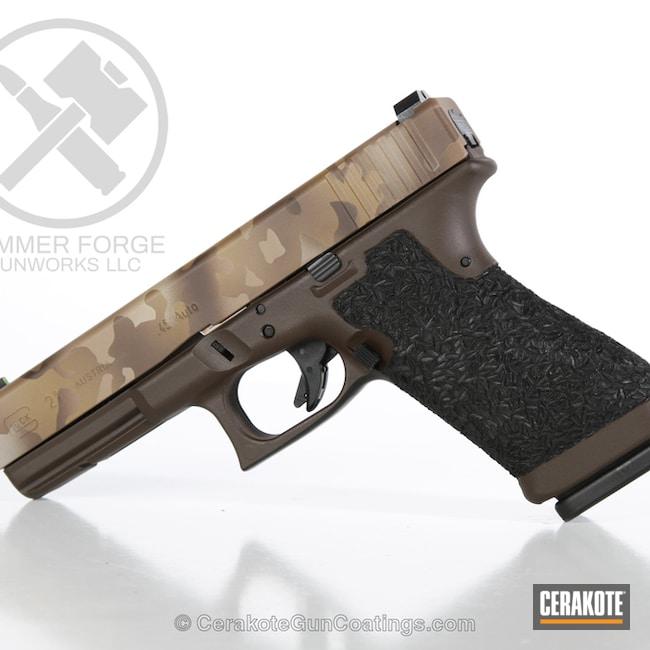 Cerakoted: Noveske Tiger Eye Brown H-187,Desert Camo,Glock 21,Mud Brown H-225,.45 ACP,Pistol,BENELLI® SAND H-143,Glock,Handguns,Chocolate Brown H-258