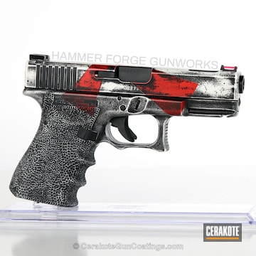 Cerakoted Custom Knights Templar Themed Glock 19c Handgun