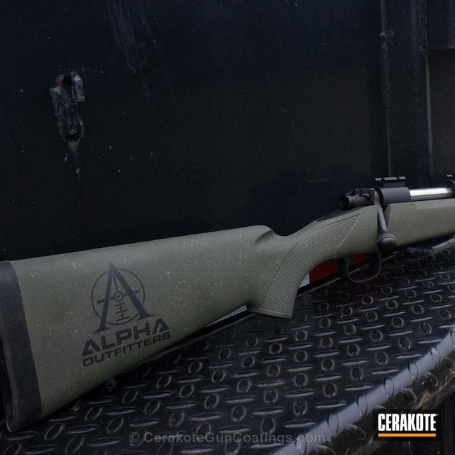Custom Bolt Action Rifle in a Speckled Cerakote Finish