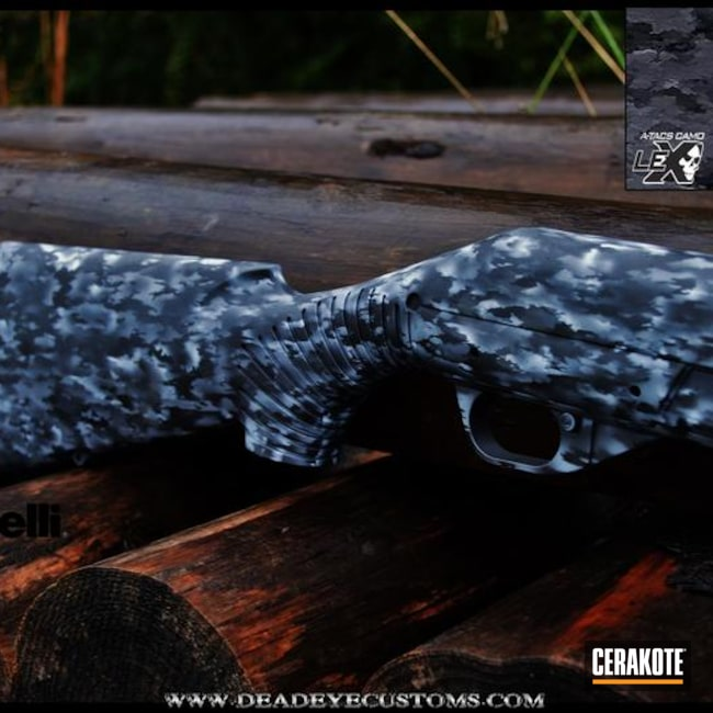 Benelli Shotgun in a Custom A-TAC Ghost Camo