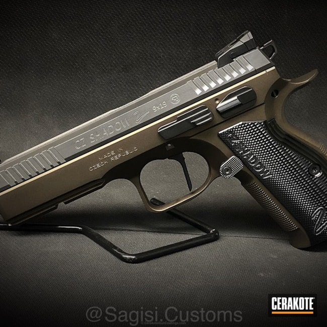 CZ Shadow 2 finished in H-294 Midnight Bronze