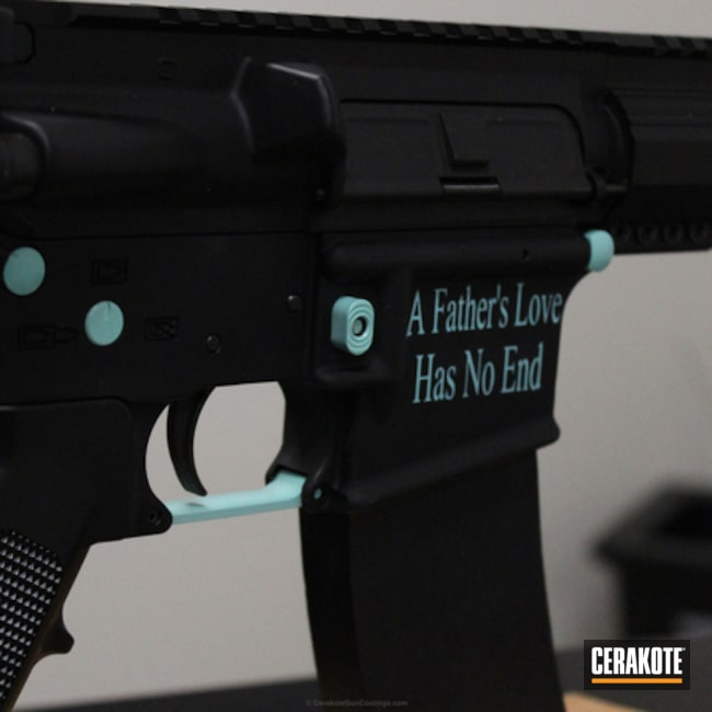 Two Toned Rifle in Graphite Black and Robin's Egg Blue