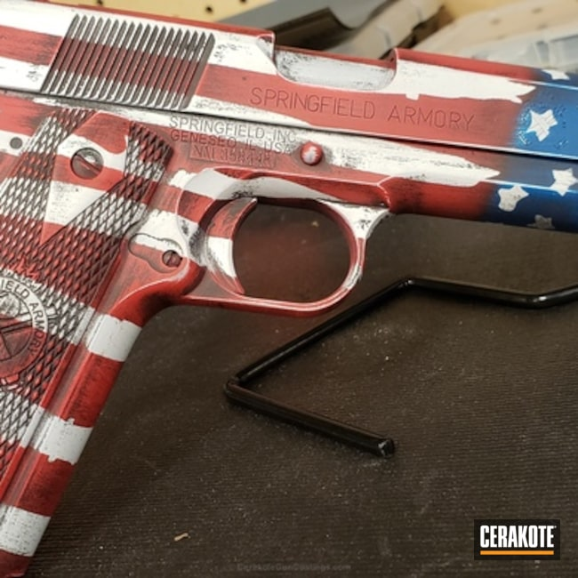 "Thumbnail image for project ""American Flag Finish on this Springfield 1911 Handgun"""