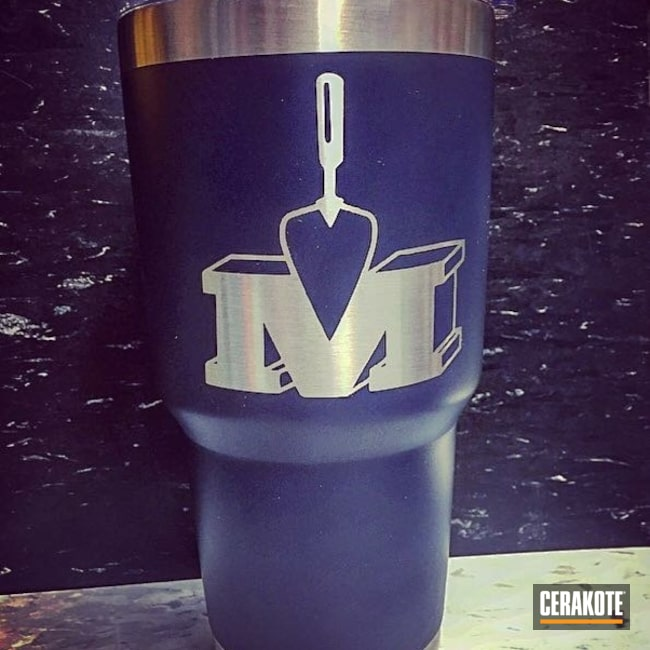 Custom Tumbler Cup in Graphite Black and NRA Blue