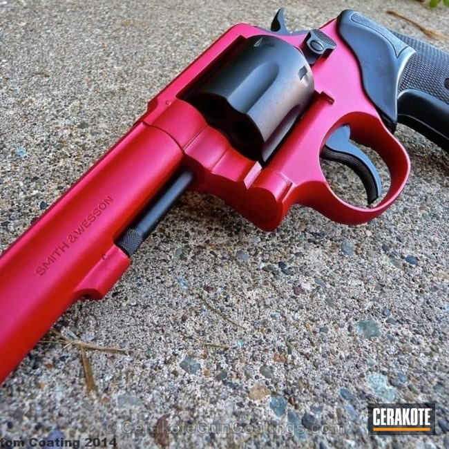 Two Toned Revolver in H-221 Crimson