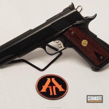 Cerakoted Colt 1911 In E-110 Midnight