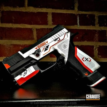 Cerakoted Custom Finished Sig Sauer P320 Handgun